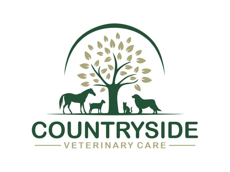 Countryside Veterinary Care logo design by Gwerth