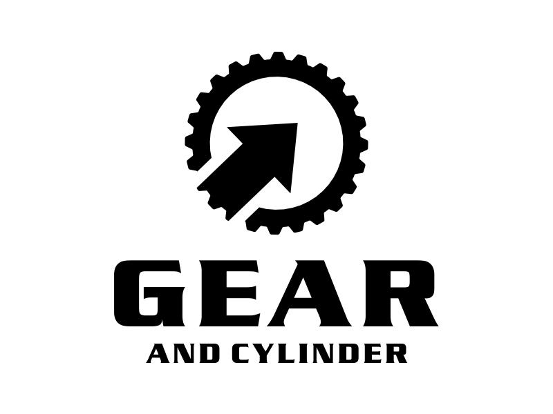 Gear And Cylinder logo design by cikiyunn