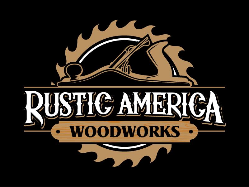 Rustic America Woodworks logo design by daywalker