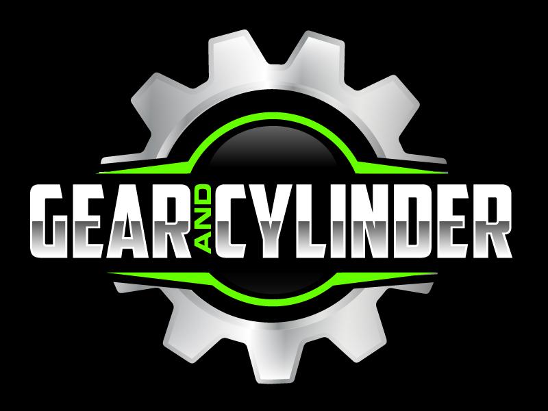 Gear And Cylinder logo design by ElonStark