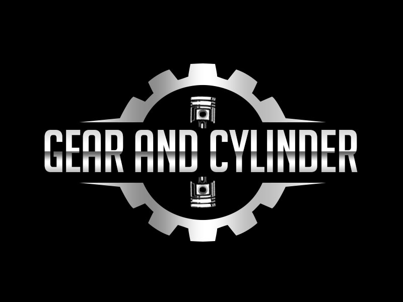 Gear And Cylinder logo design by kunejo