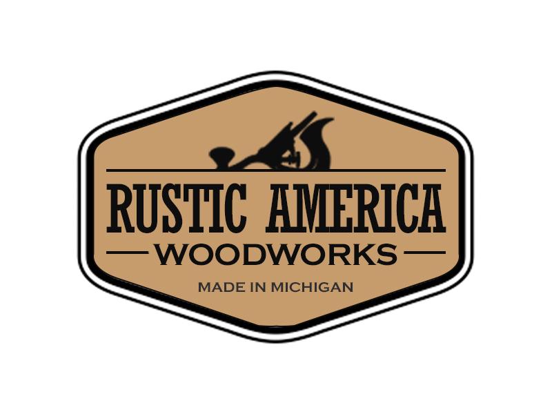 Rustic America Woodworks logo design by kunejo