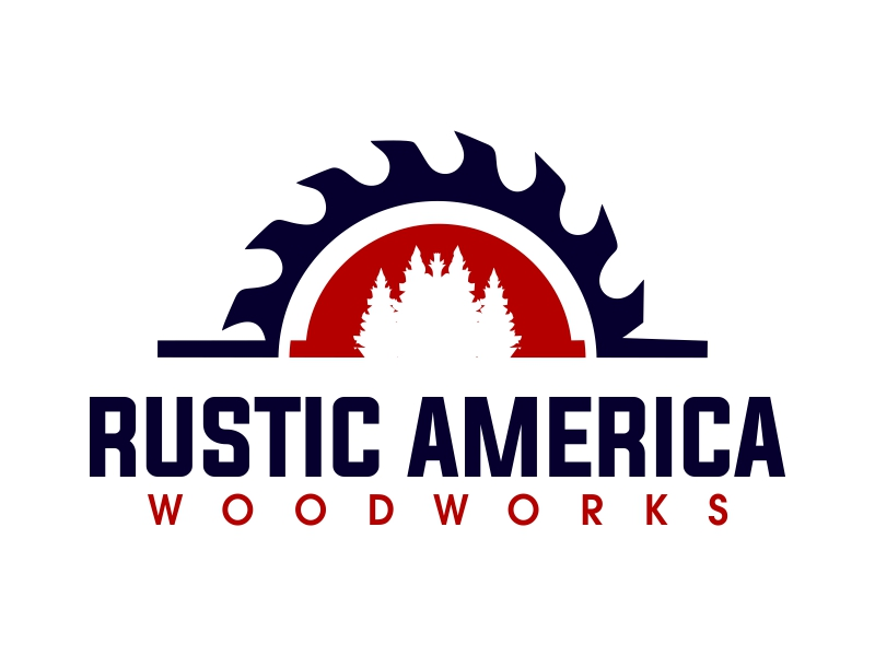 Rustic America Woodworks logo design by JessicaLopes