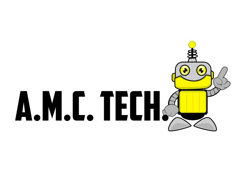 A.M.C.  TECH. logo design by ElonStark