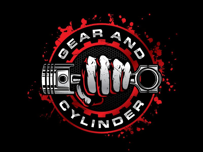 Gear And Cylinder logo design by nard_07