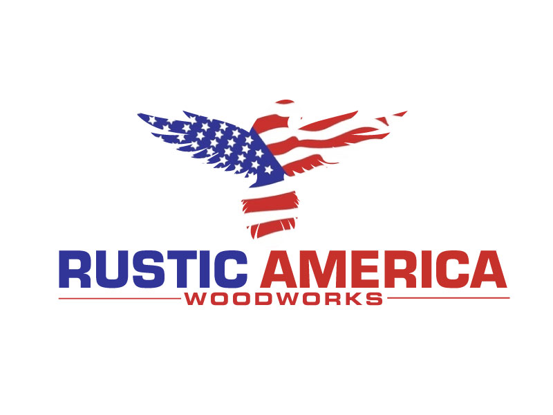 Rustic America Woodworks logo design by ElonStark