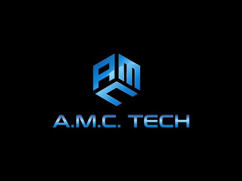 A.M.C.  TECH. logo design by gateout