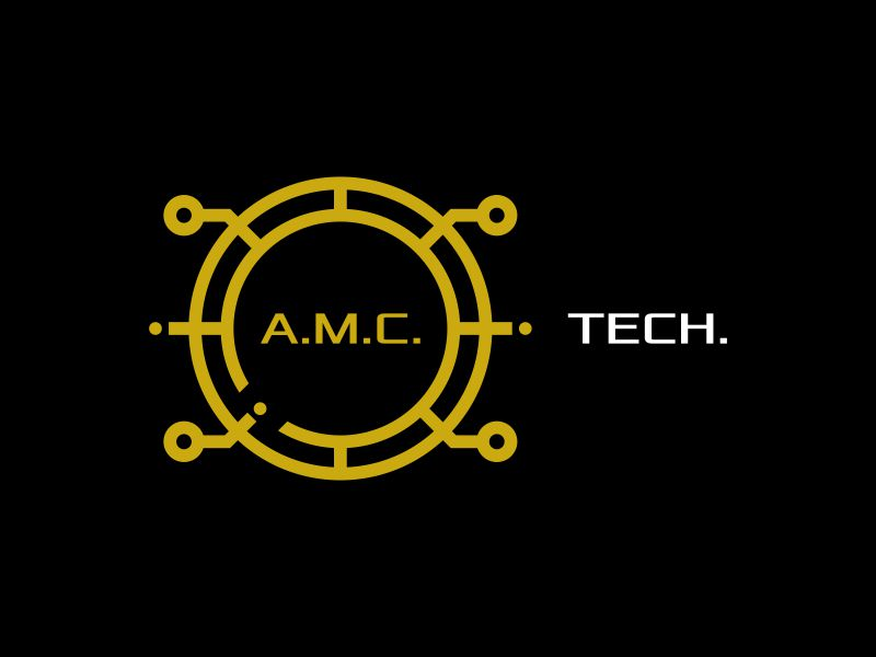 A.M.C.  TECH. logo design by Lewung
