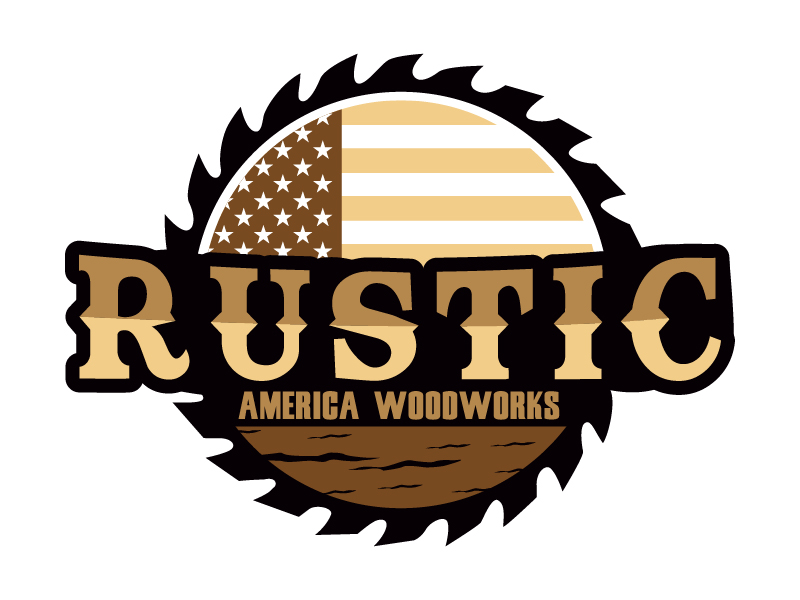 Rustic America Woodworks logo design by Shailesh