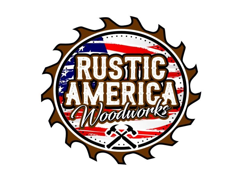 Rustic America Woodworks logo design by haze