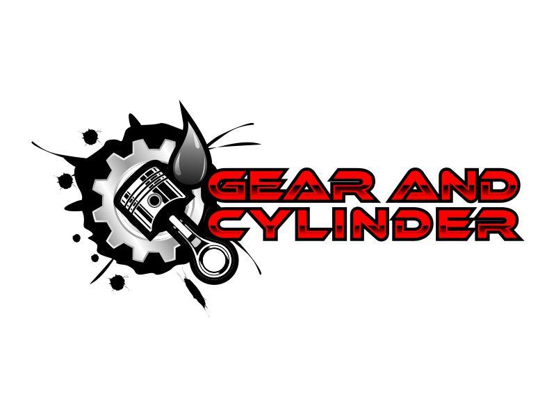 Gear And Cylinder logo design by savana