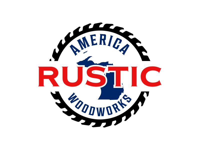 Rustic America Woodworks logo design by keylogo