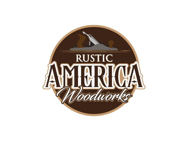 Rustic America Woodworks logo design by torresace