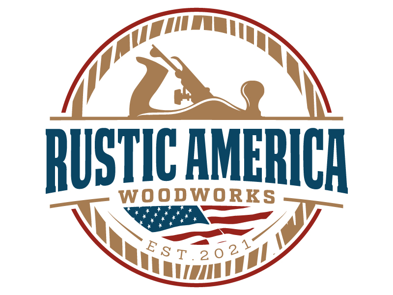 Rustic America Woodworks logo design by jaize