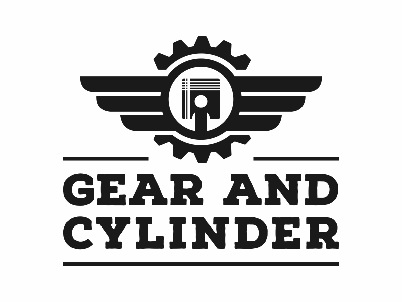 Gear And Cylinder logo design by Mardhi
