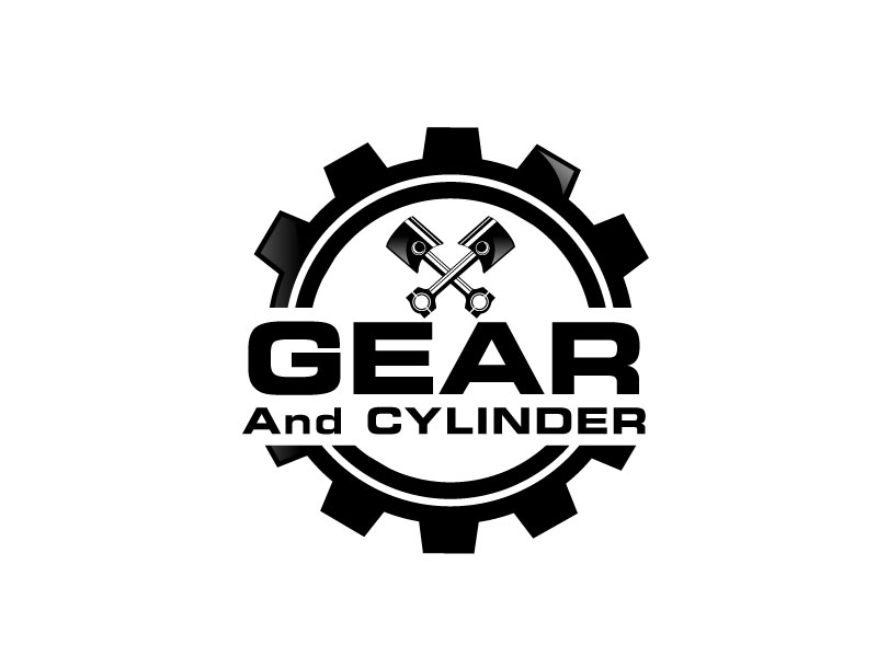 Gear And Cylinder logo design by LogoInvent