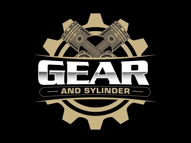 Gear And Cylinder logo design by AnandArts