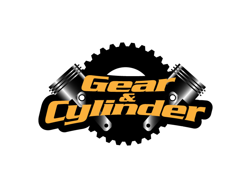 Gear And Cylinder logo design by hwkomp