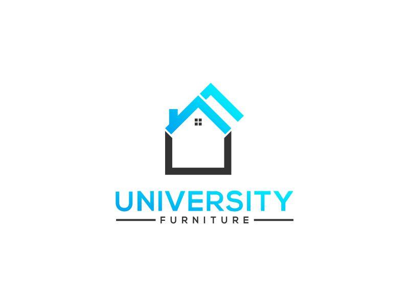 University Furniture logo design by Orino