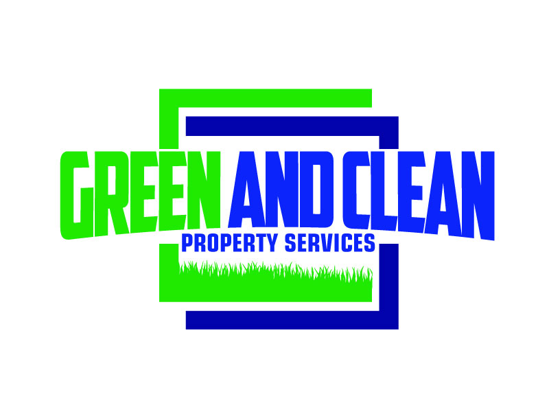 Green and Clean Property Services logo design by ElonStark