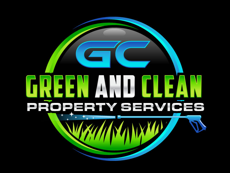 Green and Clean Property Services logo design by invento