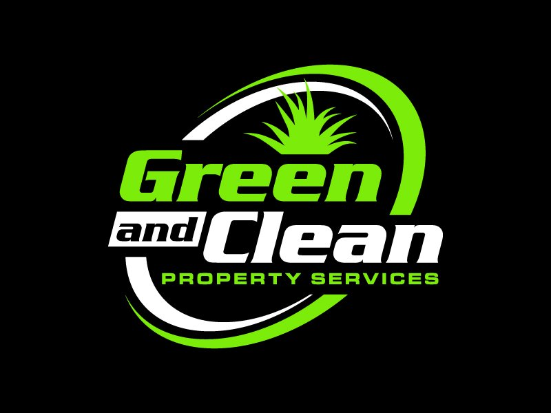 Green and Clean Property Services logo design by denfransko