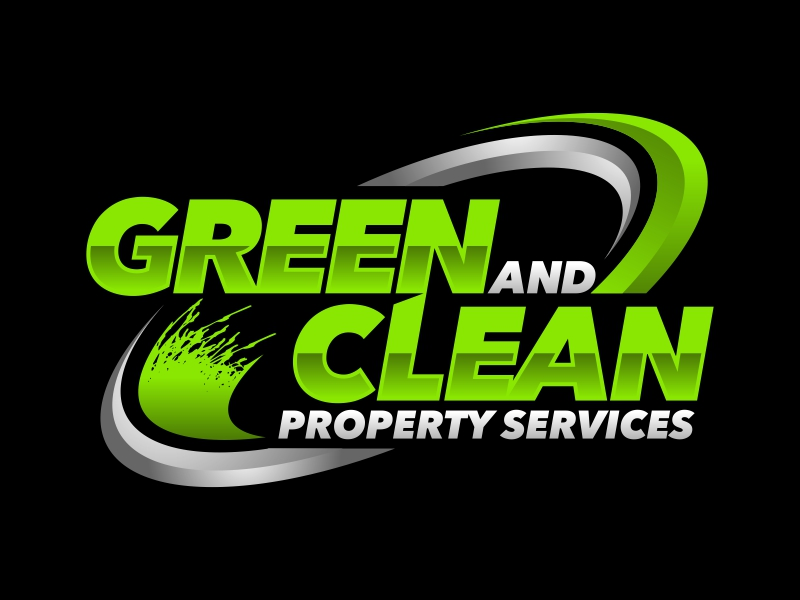 Green and Clean Property Services logo design by ekitessar