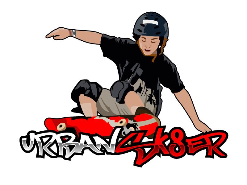 Urban Sk8er logo design by ElonStark