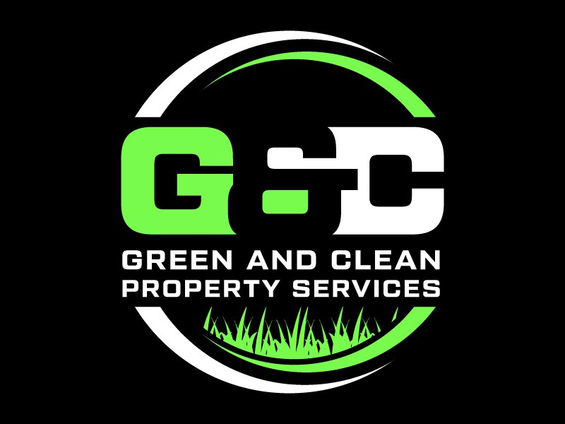 Green and Clean Property Services logo design by gateout