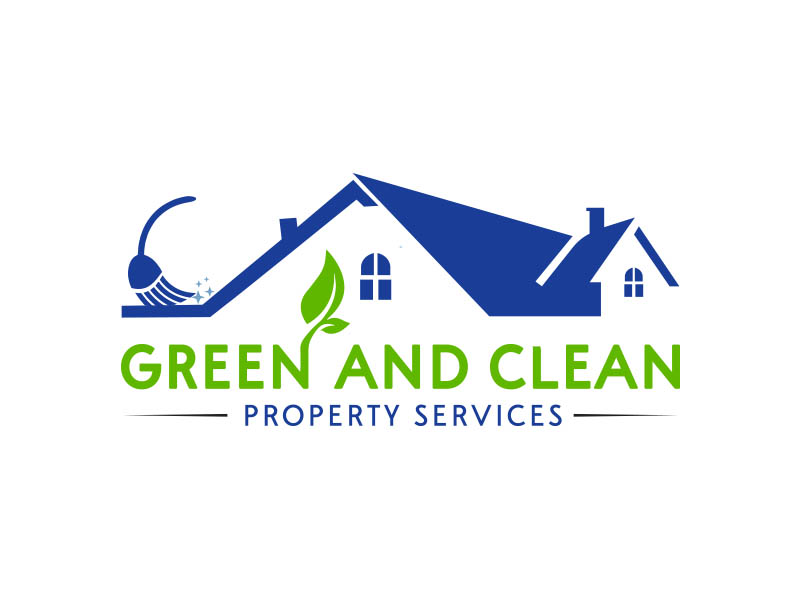 Green and Clean Property Services logo design by zubi