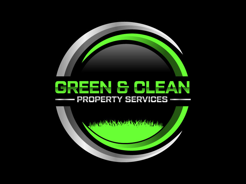 Green and Clean Property Services logo design by Erasedink