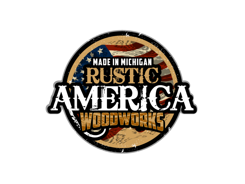 Rustic America Woodworks logo design by aRBy