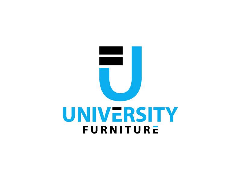 University Furniture logo design by Erasedink