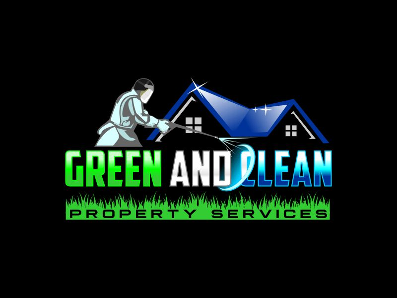 Green and Clean Property Services logo design by Dhieko