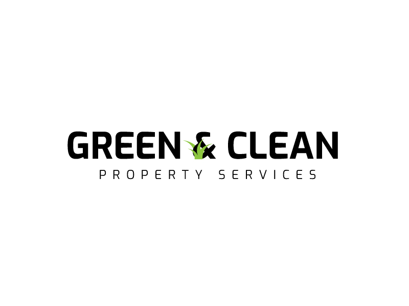 Green and Clean Property Services logo design by syakira