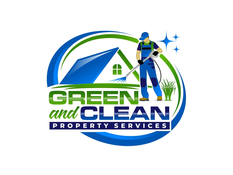 Green and Clean Property Services logo design by mutafailan