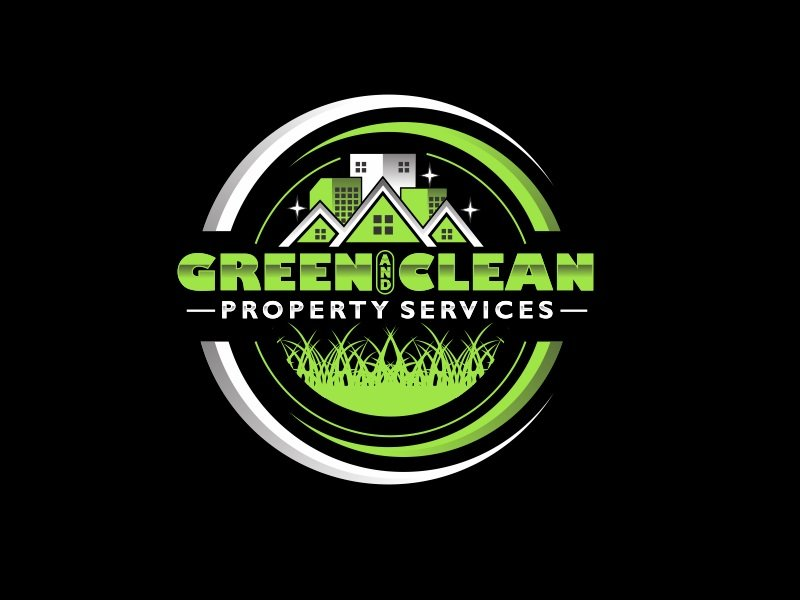 Green and Clean Property Services logo design by TMOX