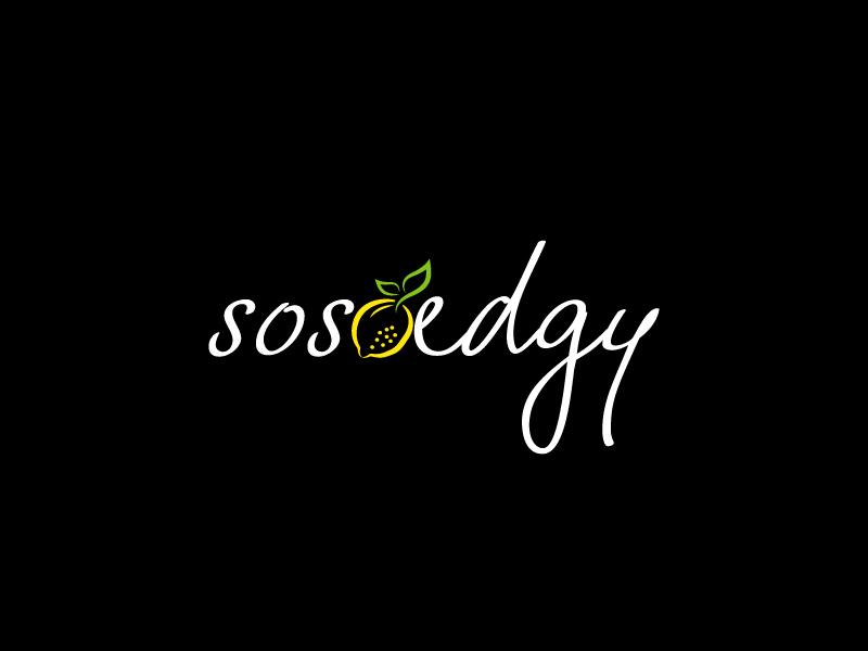 SoSoEdgy logo design by LogOExperT