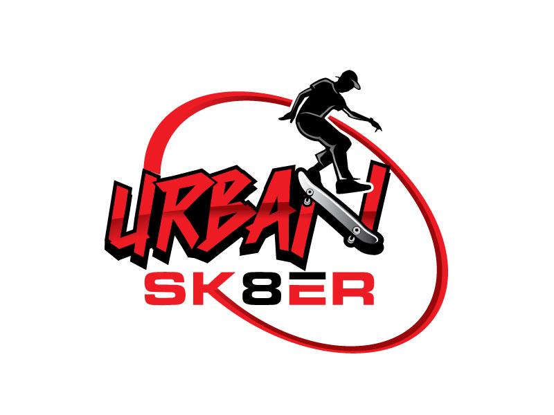 Urban Sk8er logo design by invento