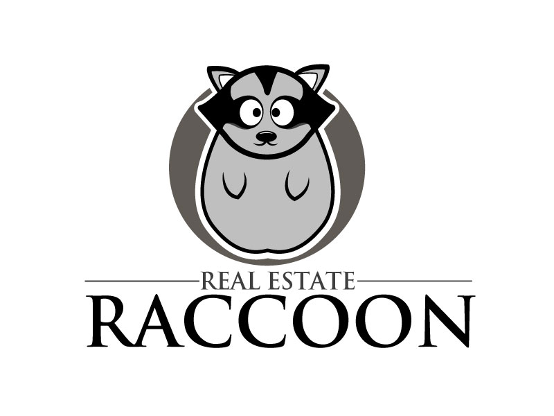Real Estate Raccoon logo design by ElonStark