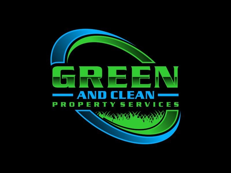 Green and Clean Property Services logo design by ora_creative