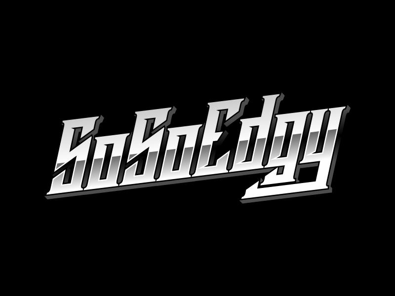SoSoEdgy logo design by ekitessar