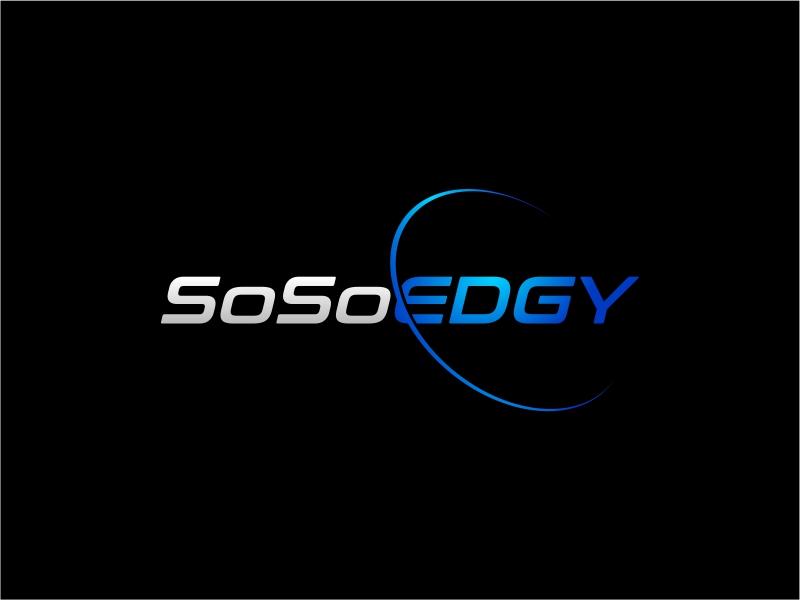 SoSoEdgy logo design by mutafailan