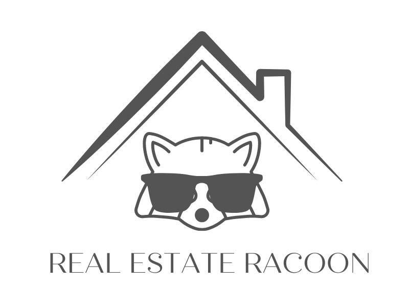 Real Estate Raccoon logo design by Sarah Tretler