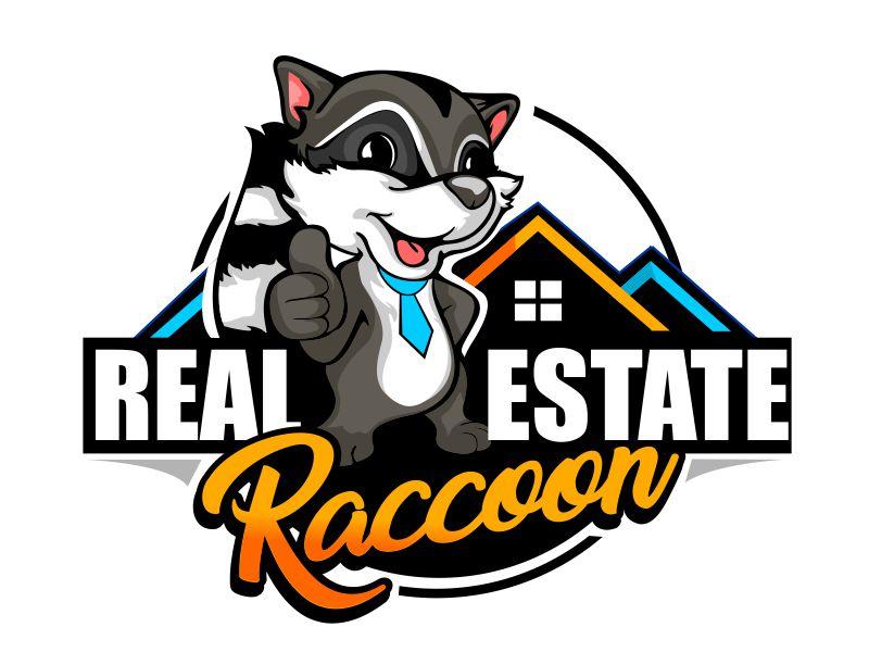 Real Estate Raccoon logo design by veron