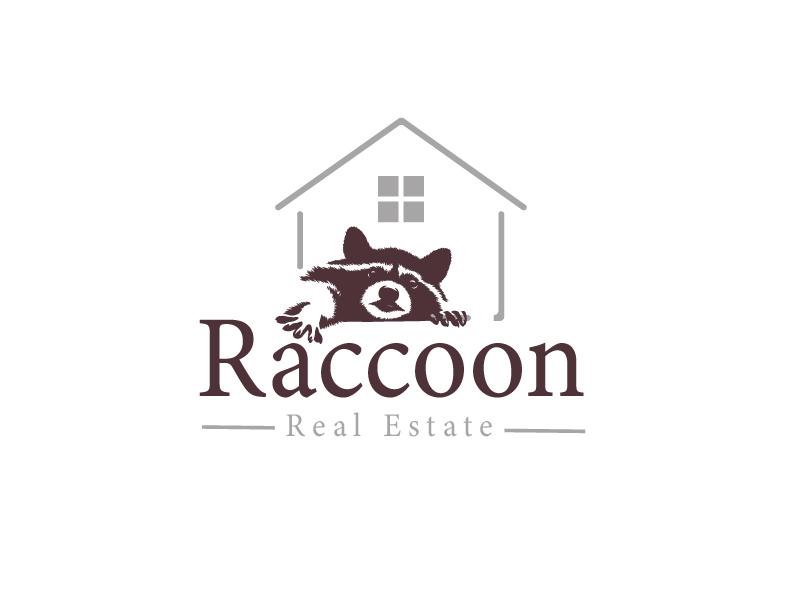Real Estate Raccoon logo design by grea8design