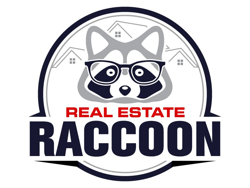 Real Estate Raccoon logo design by LucidSketch