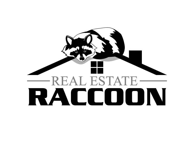 Real Estate Raccoon logo design by axel182