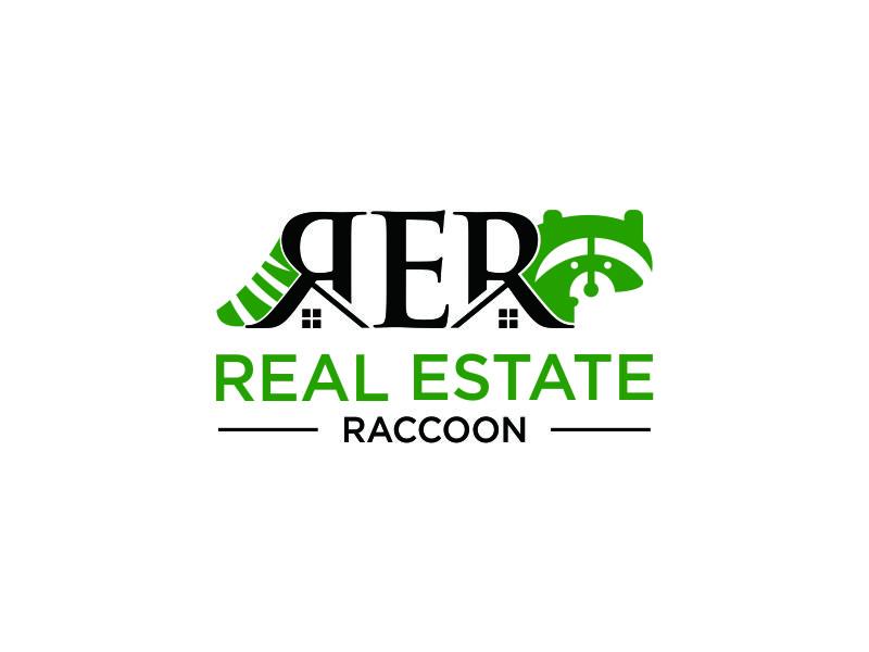 Real Estate Raccoon logo design by azizah