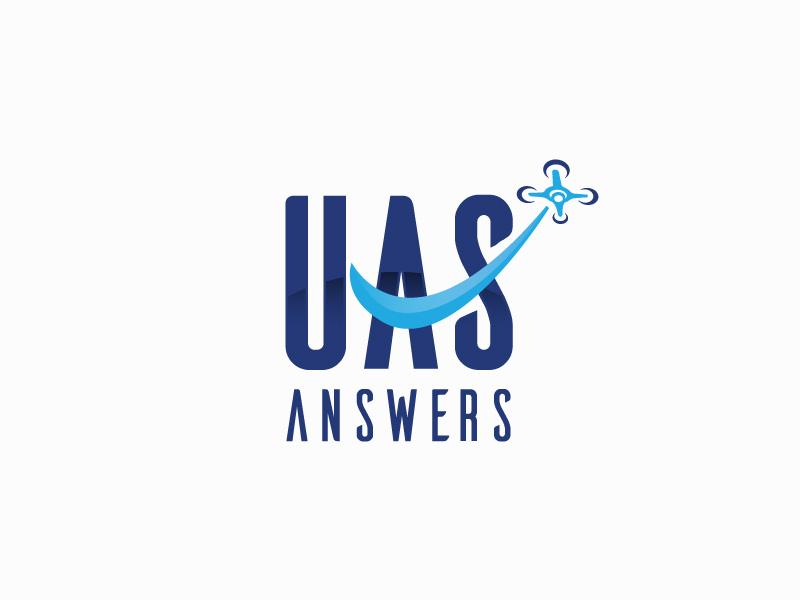 UAS Answers logo design by sigorip